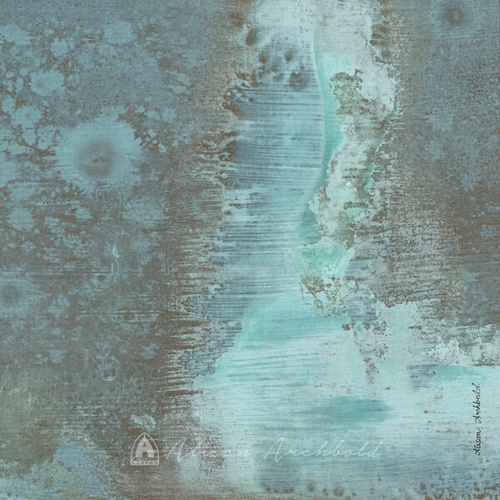 Print Abstract Verdigris
