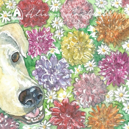 Greeting Card Animal Selfie Dog Dahlia
