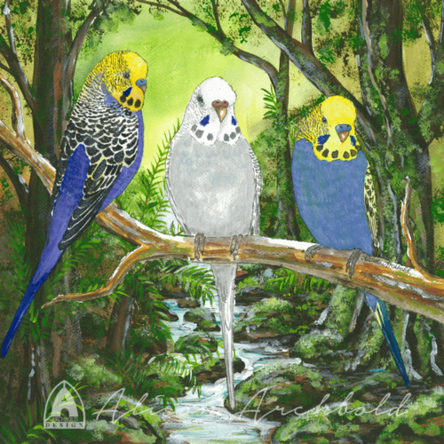 Print Budgie Forest