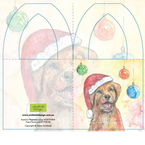 Christmas Bottle Card Dog