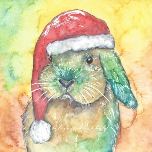 Small Christmas Card Rabbit