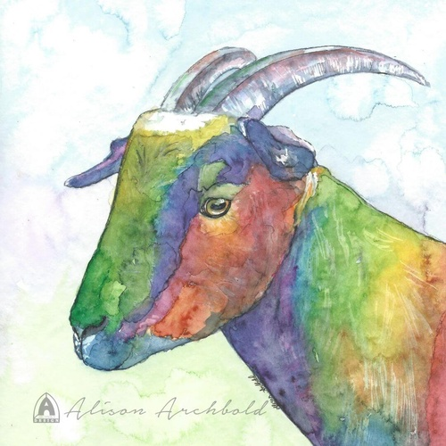 Greeting Card Farm Goat