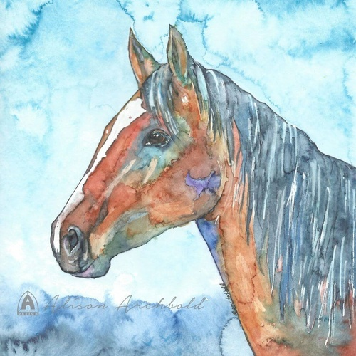 Greeting Card Farm Horse