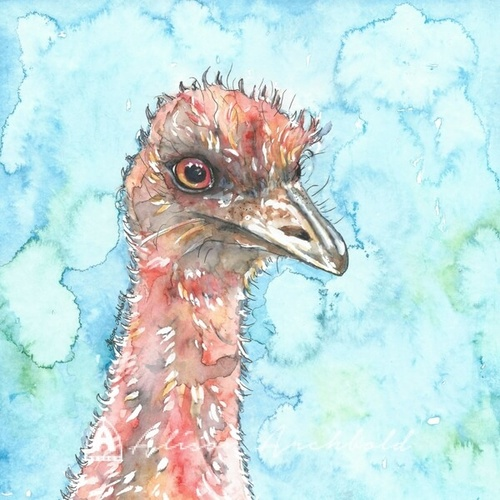 Greeting Card Native Emu