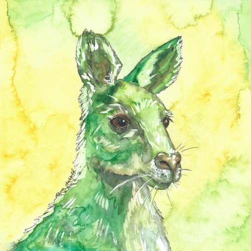Print Native Kangaroo