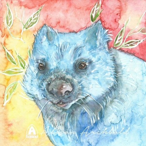 Small Card Native Wombat